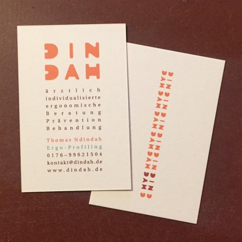 business card - dindah