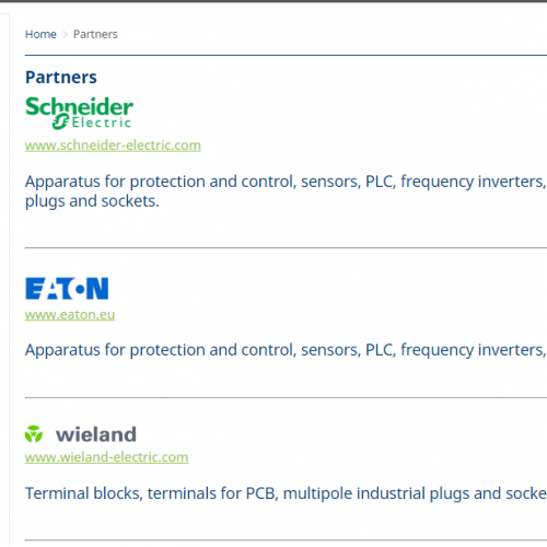 Website partner's section