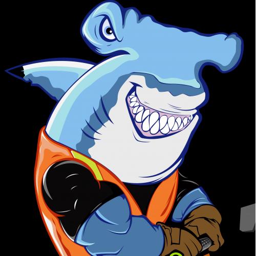 shark mascot design
