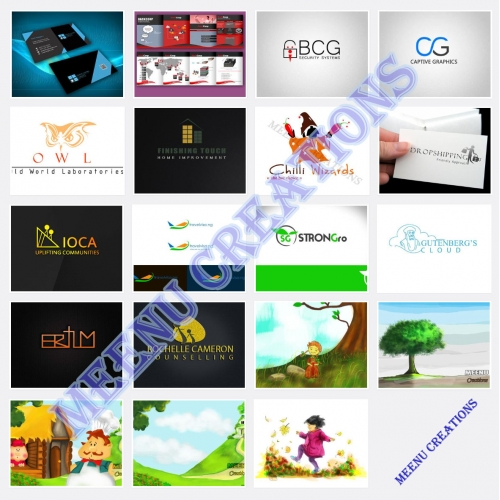 Logo designs, Business Cards, Brochures, Kids Illustrations