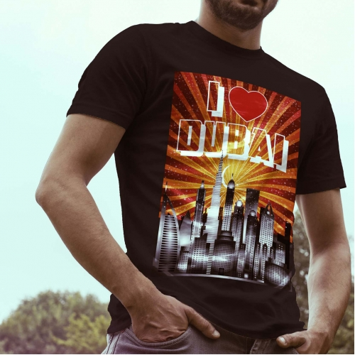 I Love Dubai T Shirt