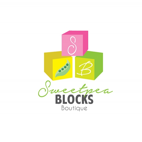 Sweetpea Blocks Boutique - logo design