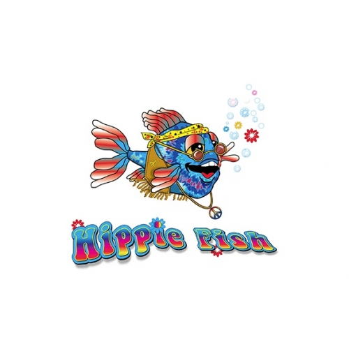 Illustration of hippie fish