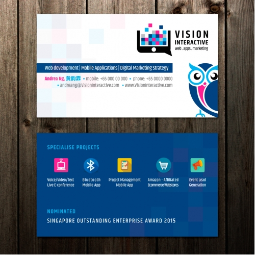 Vision Interactive Business Card design